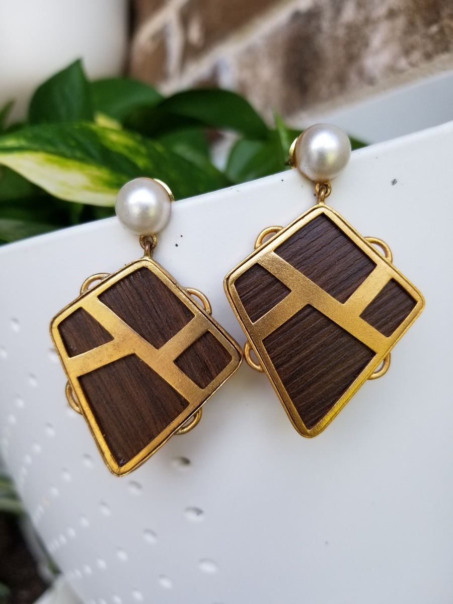 Buy Suhani Pittie Wood Earrings On Sale
