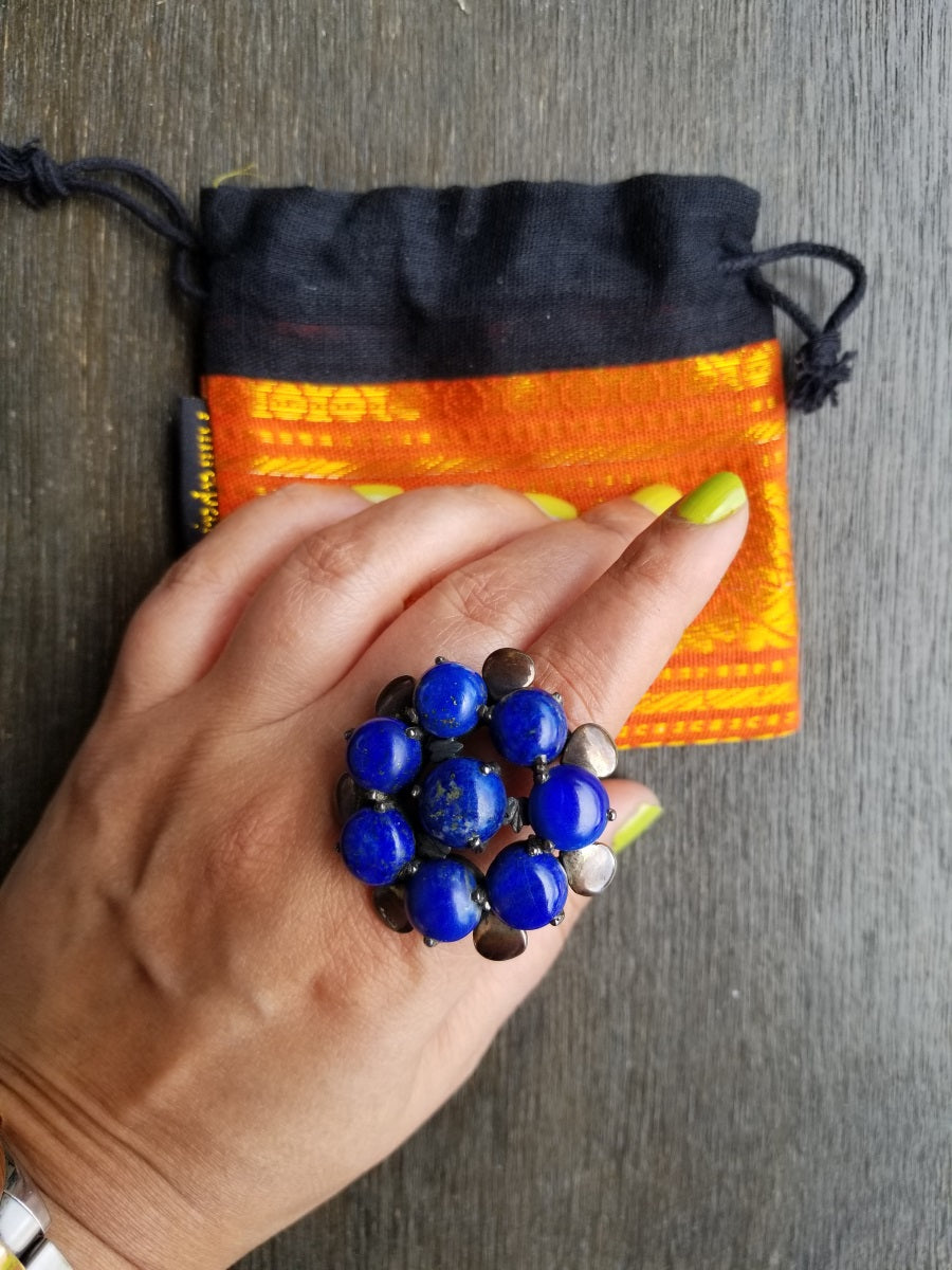 Buy Tribe Amrapali Lapis Ring On Sale