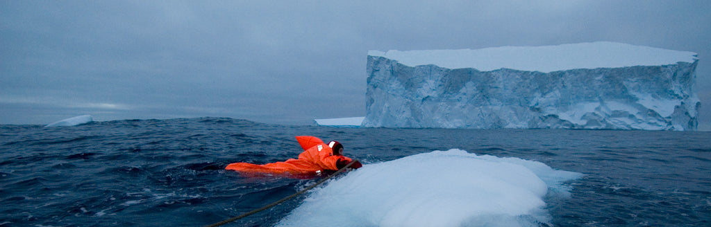 Using a dry suit in arctic waters