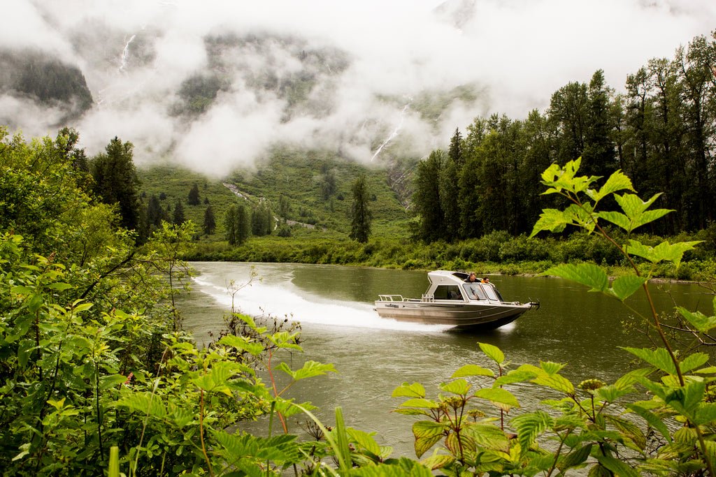 Jet boat on the rivers in Terrace BC