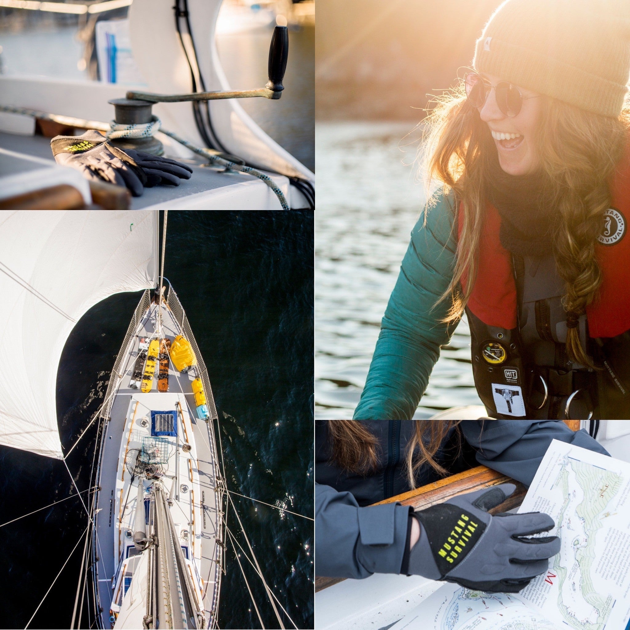 collage of crew setting sail for an adventure