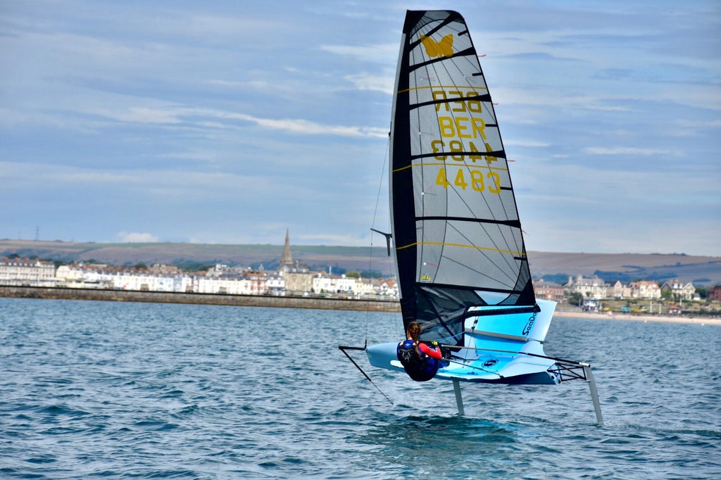 Emily Nagel on her moth foil ocean sailing