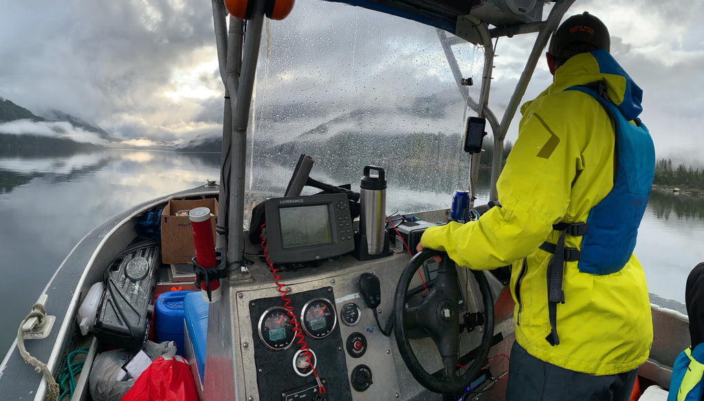 Ralh Bruhwiler boating in BC
