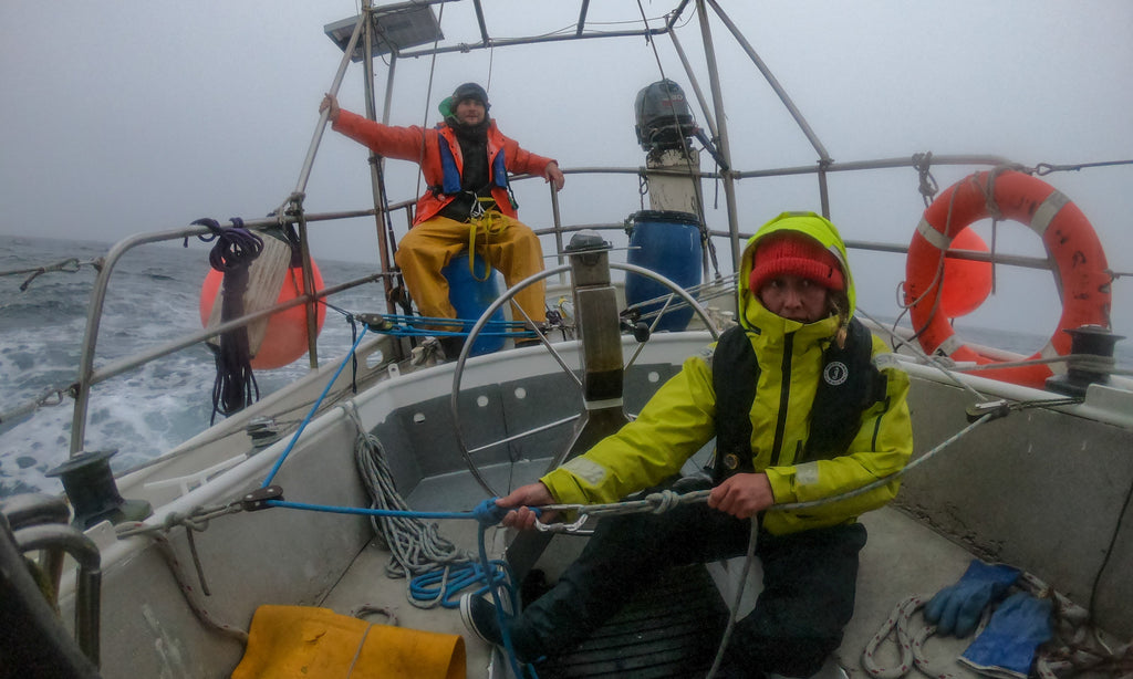 Photo- Chris Rubens - sailing in foul weather to greenland