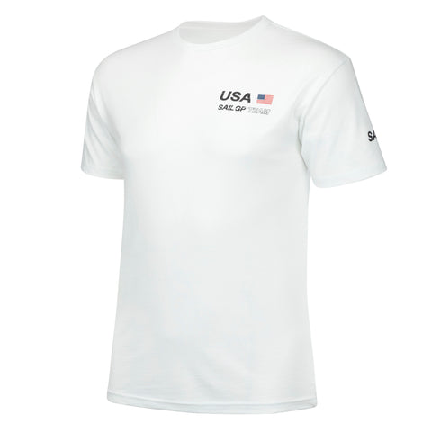 MA0129 USA Sail GP Cotton Tee White