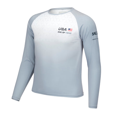 MA0127 Men's USA Sail GP UV Long Sleeve Grey