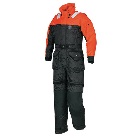 MS2175 Deluxe Anti-Exposure Coverall and Worksuit Orange-Black