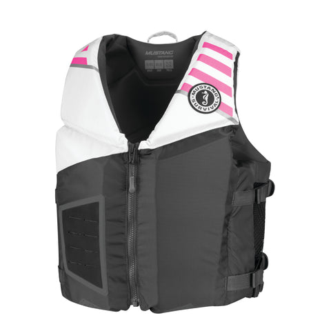 MV3600 Young Adult Rev Foam Vest Gray-White-Pink