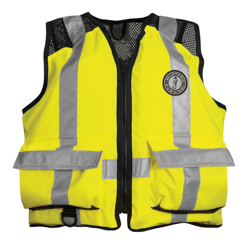 MV1254T3 High Visibility Industrial Mesh Vest Fluorescent Yellow Green