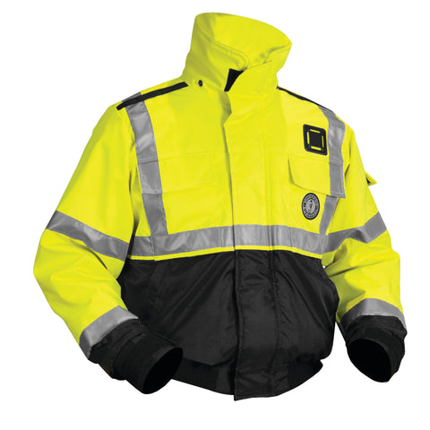 MJ6214T3 ANSI High Visibility Flotation Jacket Fluorescent Yellow Green