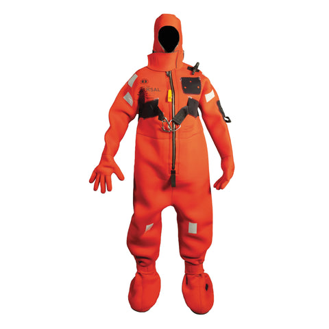 MIS220HR Neoprene Cold Water Immersion Suit with Harness - Adult Small Red