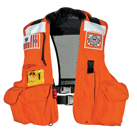MD045022 USCG SAR Vest with LIFT (Auto Hydrostatic) Orange