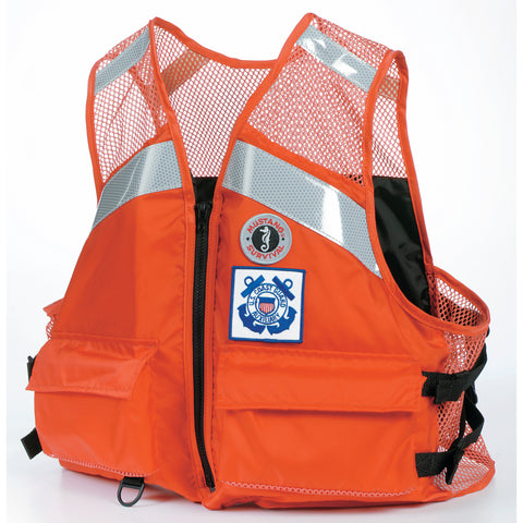 Industrial Mesh Vest for USCG Auxiliary