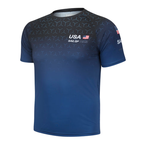 MA0126 Men's USA  Sail GP Replica Tee Navy Blue