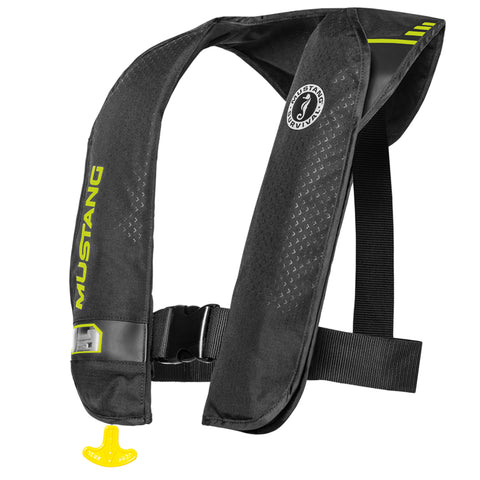 MD201402 M.I.T. 100 Manual Inflatable PFD Black-Fluorescent Yellow Green
