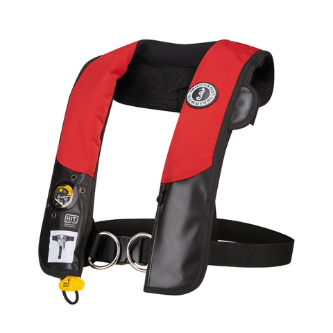 MD318402 HIT™ Hydrostatic Inflatable PFD with Sailing Harness Red-Black