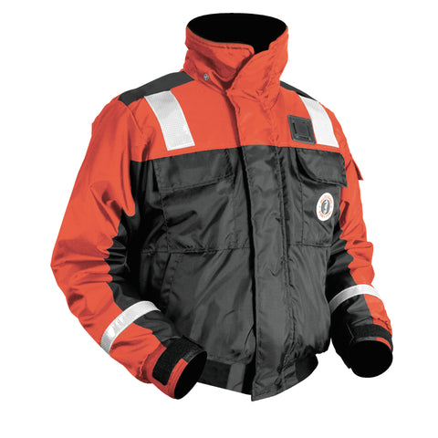 MJ6214T1 Classic Flotation Bomber Jacket with Reflective Tape Orange-Black