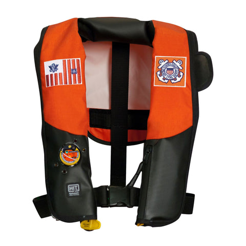 MD318322 HIT™ Inflatable PFD for USCG (Auto Hydrostatic) Orange-Black