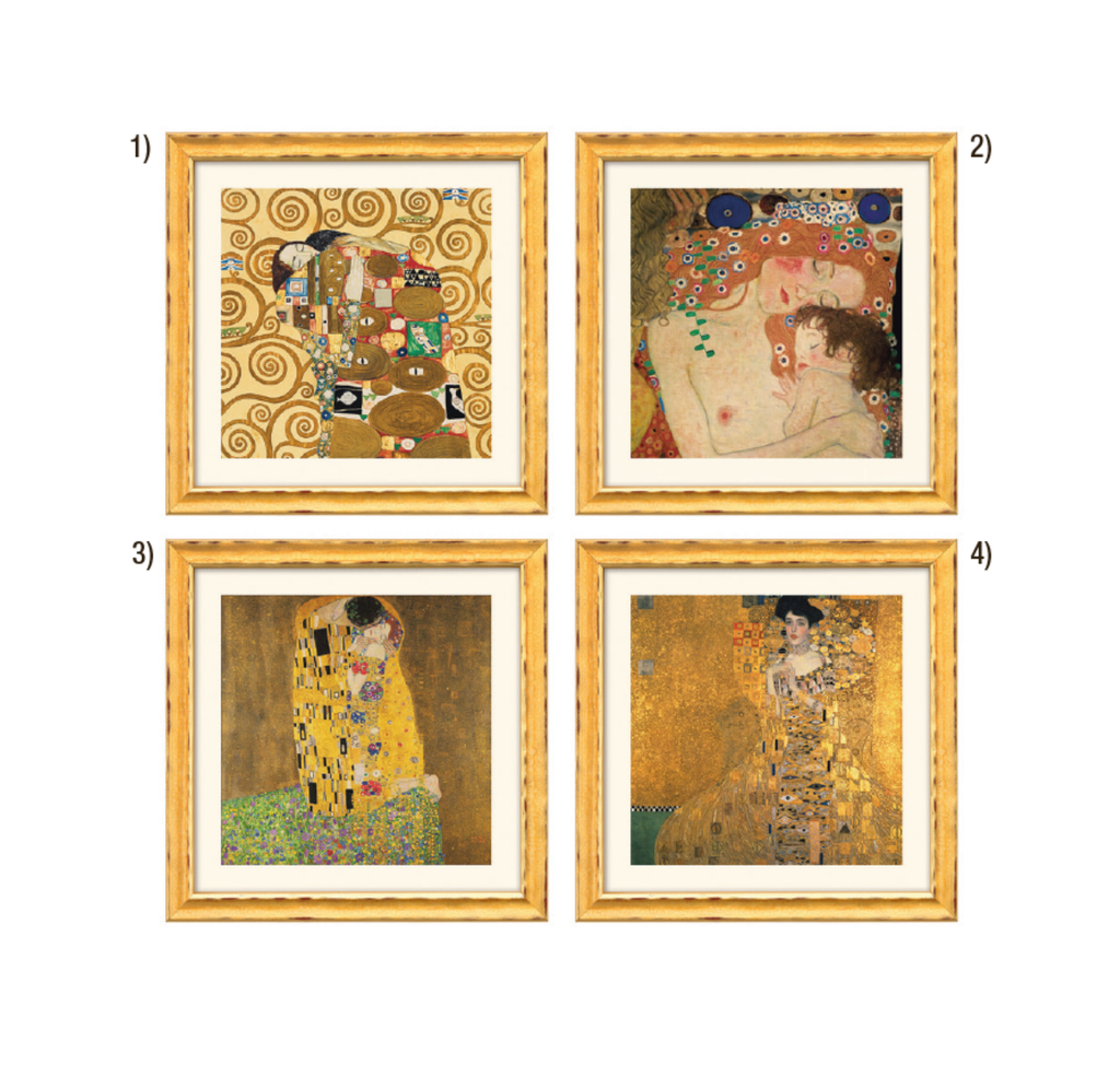 Gustav Klimt : 4 photos dans un ensemble