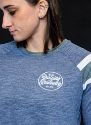 WeArePR Women's Long Sleeve Fanatic Tee - Navy & Slate