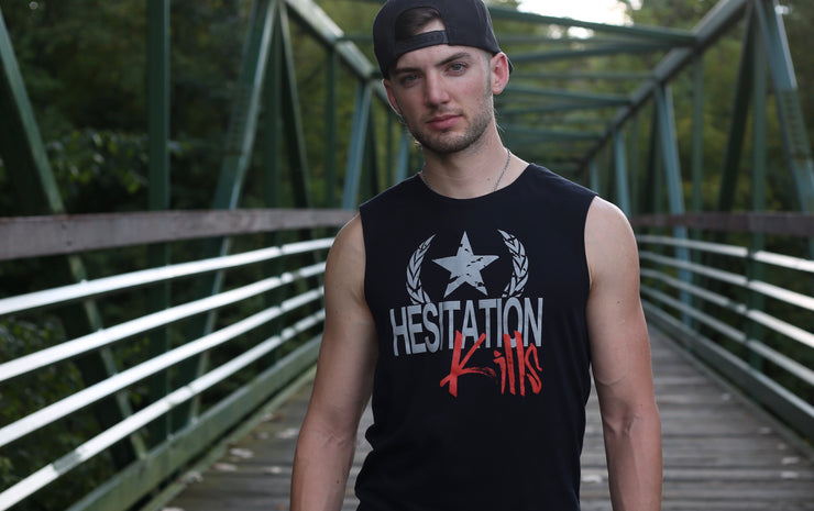 Hesitation Kills Muscle Tank - Black