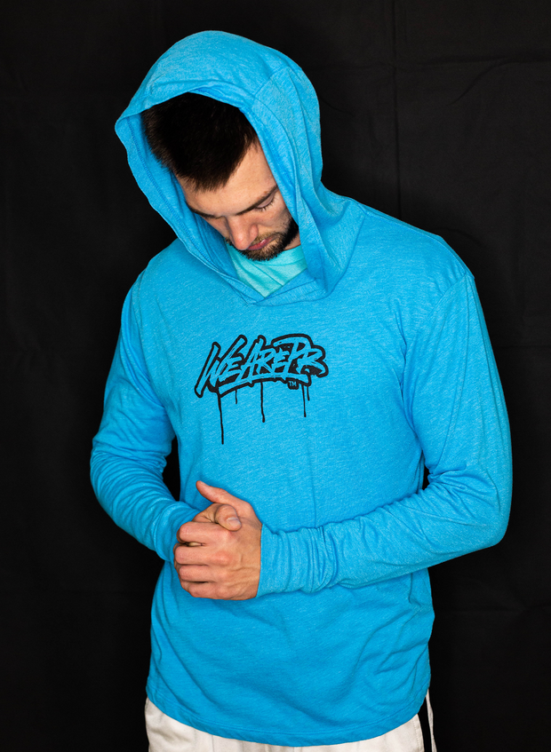 Drip Hooded Long Sleeve - Vintage Turquoise