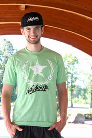 Star & Laurel Tee - Apple Gree