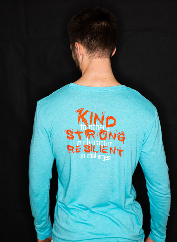 Kind Strong Resilient Long Sleeve - Tahiti Blue