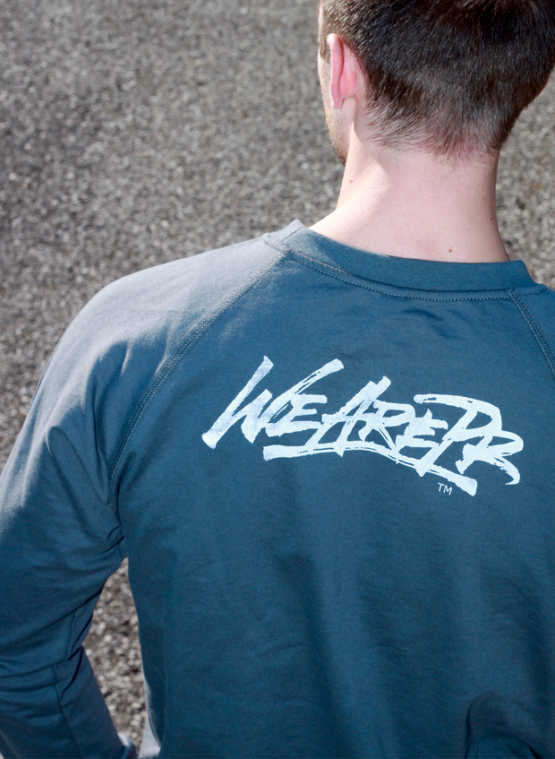 Fear Is Not Necessary Crewneck - Navy & Gray