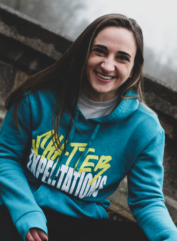Shatter Expectations Hoodie - Heather Teal