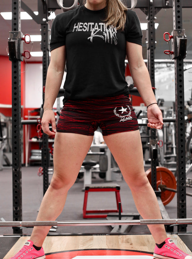 Women's Compression Shorts - Black & Red