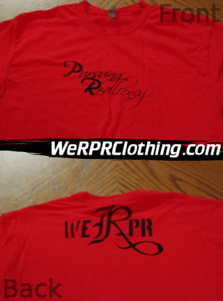 Pursuing Resiliency Script OG Red Tee