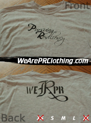 Pursuing Resiliency Script Tee - Gray