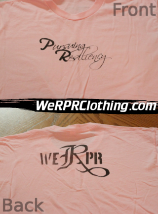 Pursuing Resiliency Script Tee - Pink