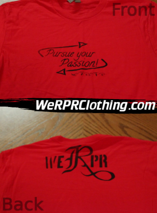Pursue Your Passion Tee - Red