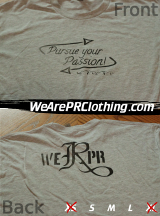 Pursue Your Passion Tee - Gray