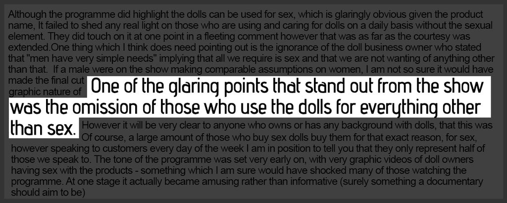 those who use the dolls for everything other than sex