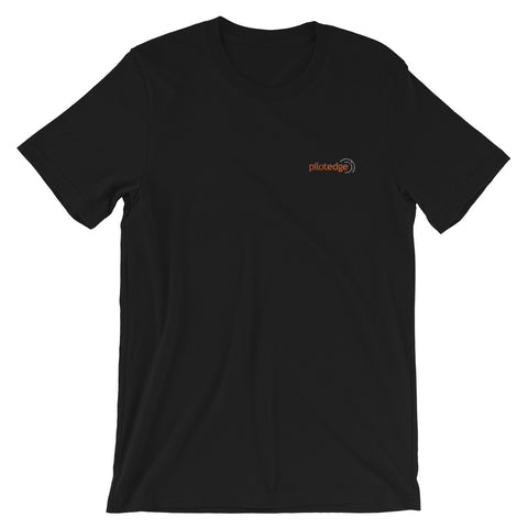 PilotEdge Black Embroidered Logo Shirt