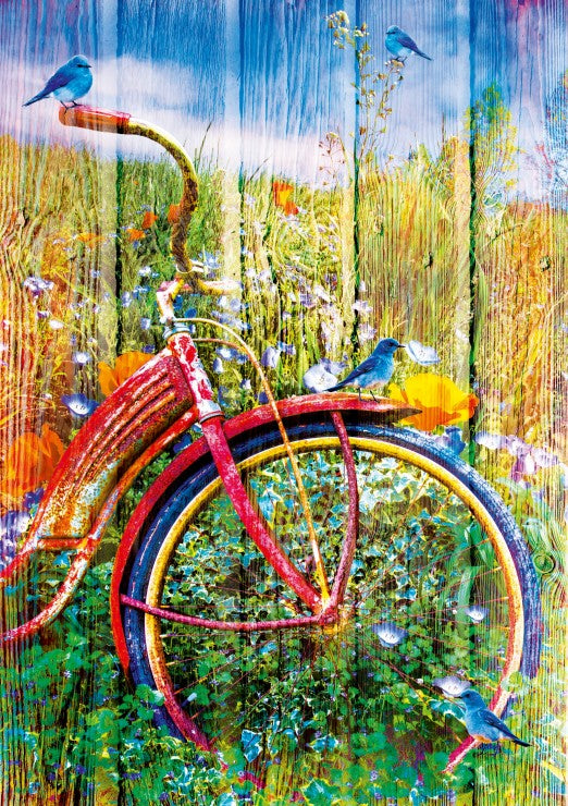 Bluebirds on a Bicycle - Blue Bird - 1000 stukjes