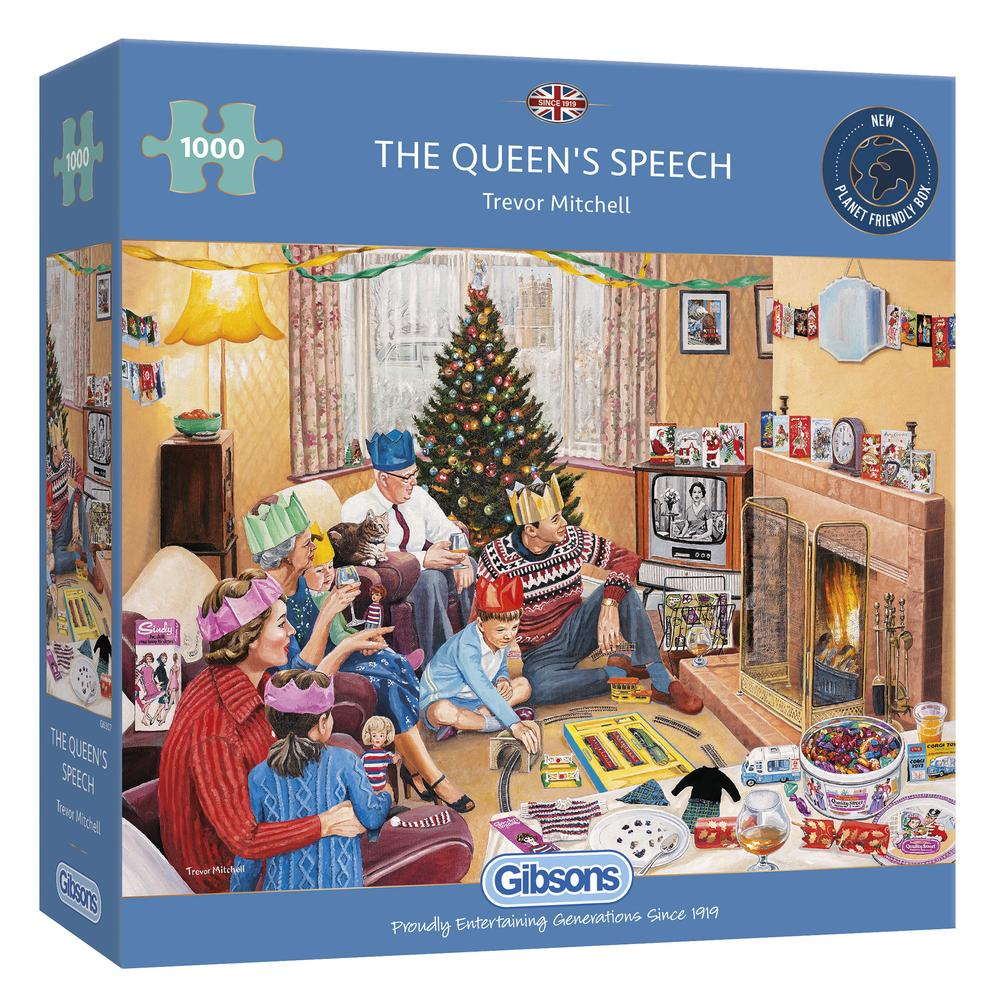 The Queen's Speech Gibsons - 1000 stukjes - Legpuzzel KNEUSJE