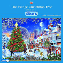 Afbeelding in Gallery-weergave laden, The Village Christmas Tree - Gibsons - 1000 stukjes