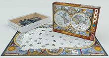 Afbeelding in Gallery-weergave laden, Antique World Map Eurographics - 1000 stukjes - Legpuzzel