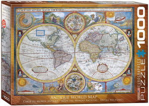 Antique World Map Eurographics - 1000 stukjes - Legpuzzel