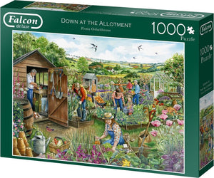Falcon puzzel Down At The Allotment Jumbo - Legpuzzel - 1000 stukjes