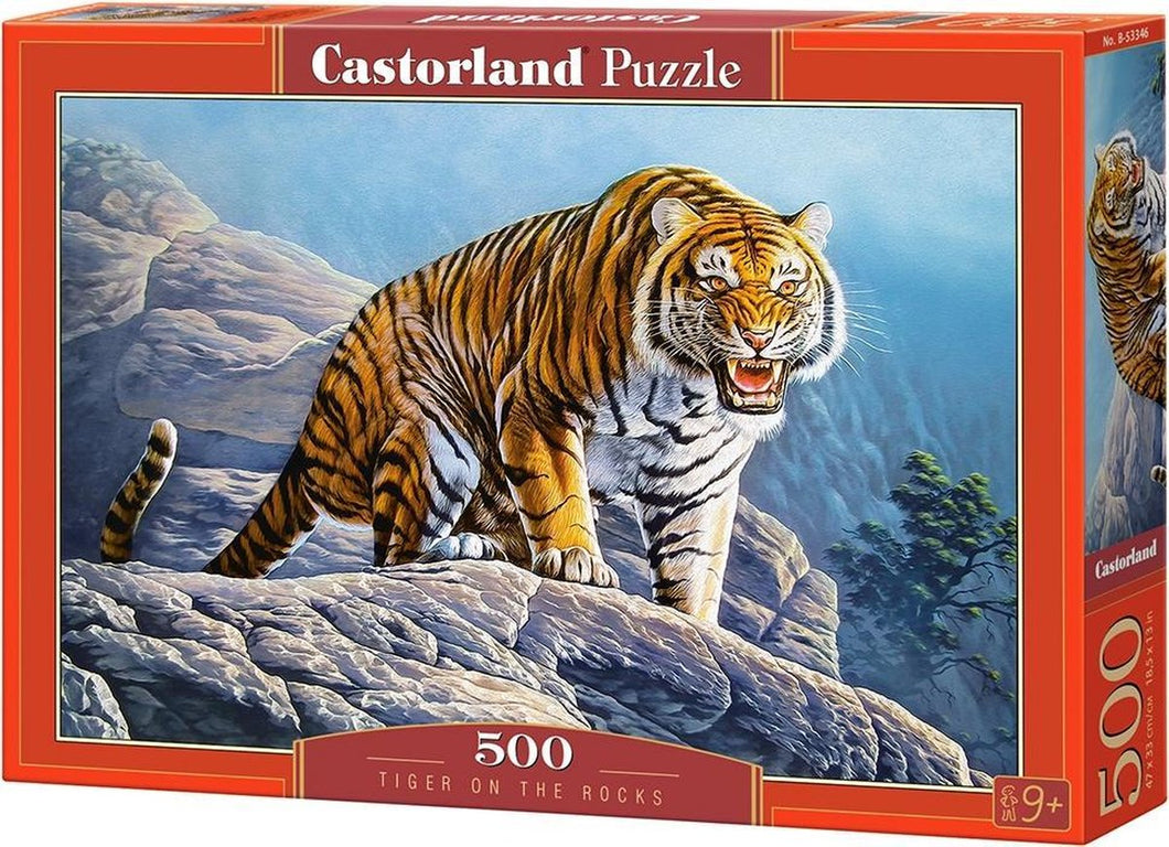 Tigers on the Rock Castorland - 500 stukjes - Legpuzzel