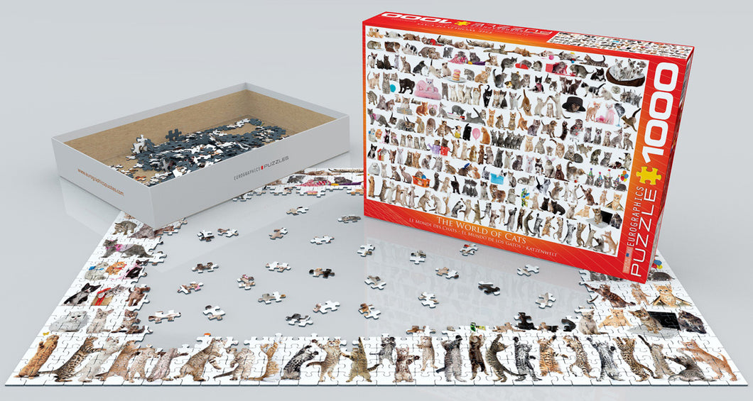 The World of Cats Eurographics - 2000 stukjes - Legpuzzel