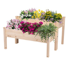 Load image into Gallery viewer, 2-in 1 Wooden Raised Garden Bed Planter Box Elevated Deck Patio Flower