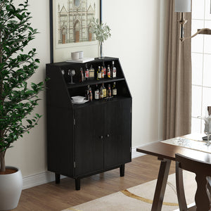 Buffet Dining Bar Cabinet Wine Storage Sideboard Liquor Display Home Kitchen