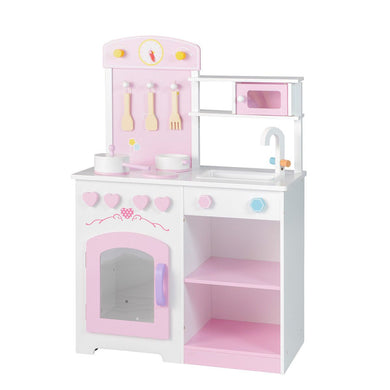 Kitchen Play Set Kids Pretend Cooking Bake Toy Set Toddler Gift with Accessories
