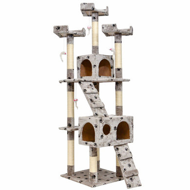 "Good Life 66"" Cat Condo Tree House Scratching Posts Tall Tower Small to Medium"